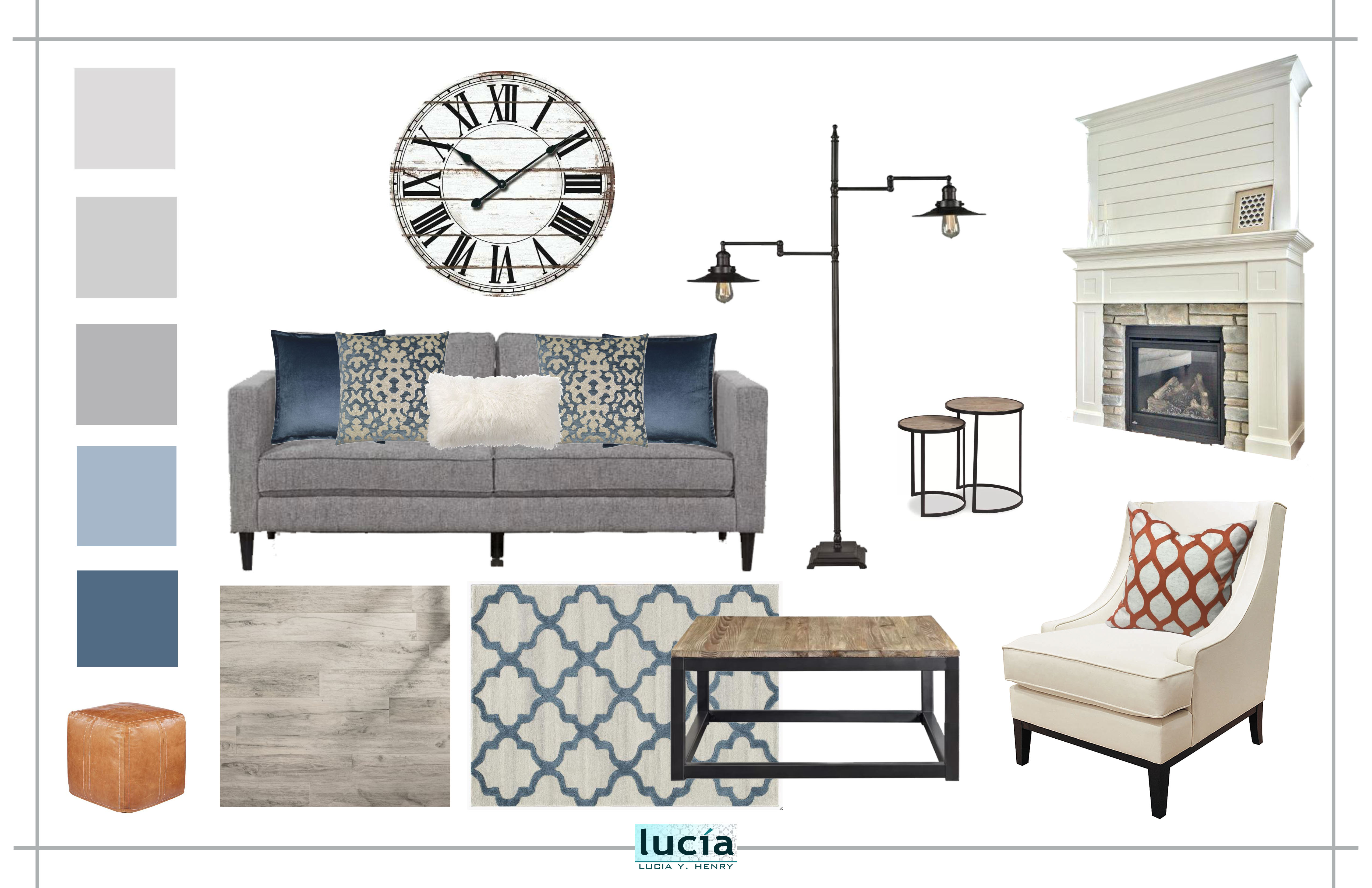 Mood Board LIVING ROOM 10-14 BLUE