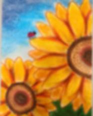 Pastel sunflower