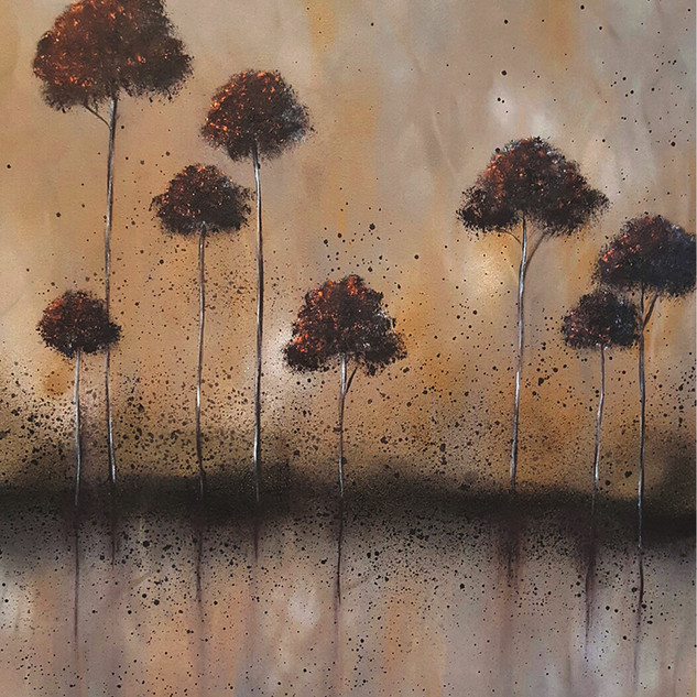 Copper Trees Black Rain