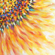 Sunflower Bright Abstract