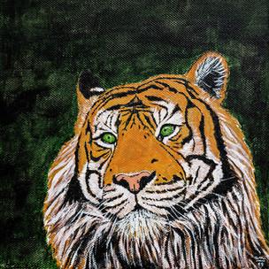 Tigre à l'acrylique
