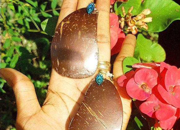 Boucles d'oreilles noix de coco chromé