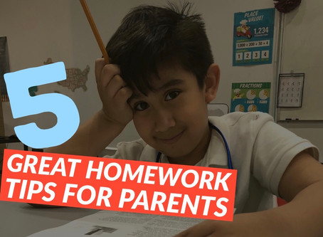5 Great Homework Tips for Parents