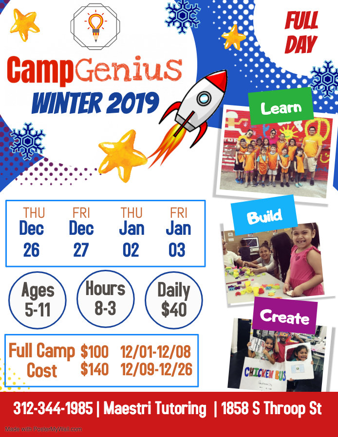 Winter Camp Genius Flyer - Made with Pos