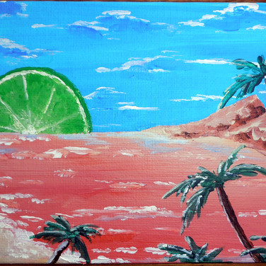 Limeing the good life (In Private Collection)