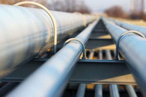 detail of steel light pipeline in oil re