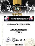 2007 World Champion WFM Wien July 1-3 WF