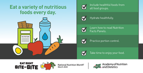 National Nutrition Month: Resources and Tips to Empower You to Exercise and Eat Healthier