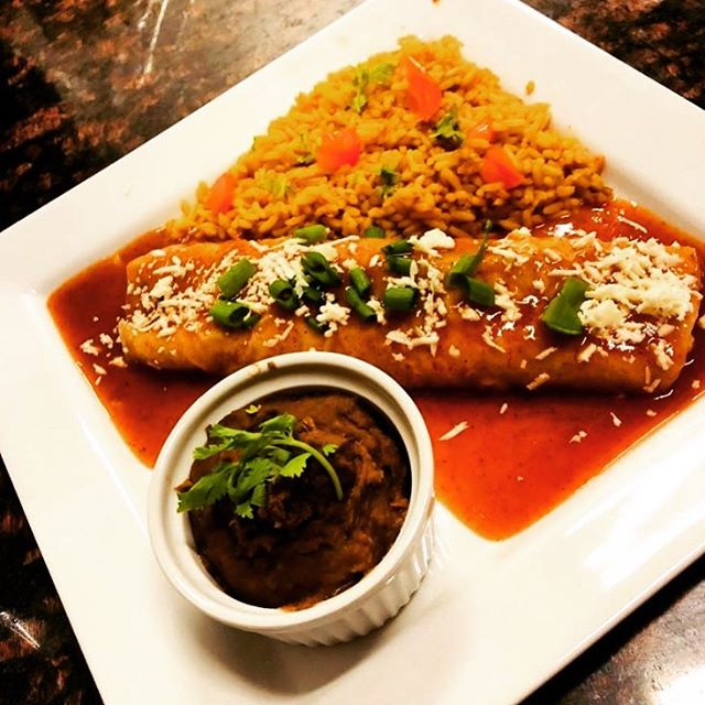Our best seller, enchilada plate! _Fills