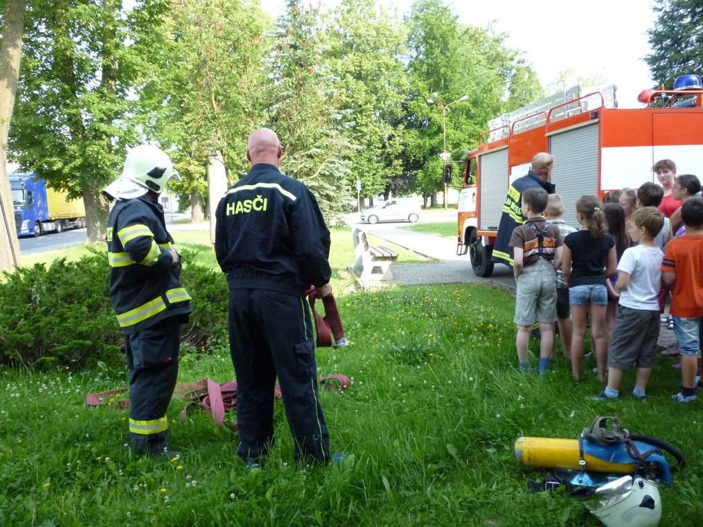 Zásah hasičů - ukázka techniky