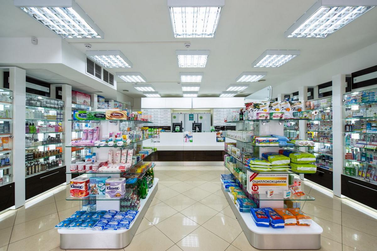 Освещение аптеки НЕОФАРМ