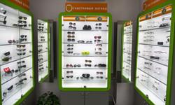 Освещение более 100 салонов оптики