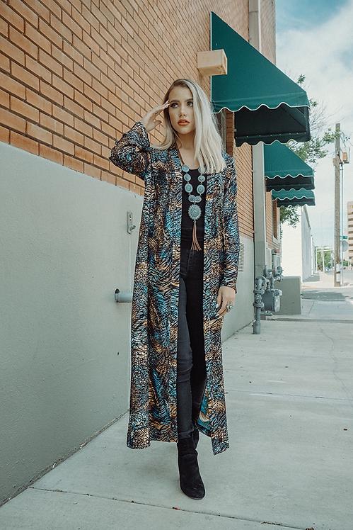 Ashley Duster - Zoorama Turquoise