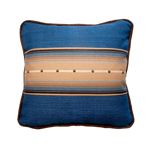 Hudson Cobalt Throw Pillow