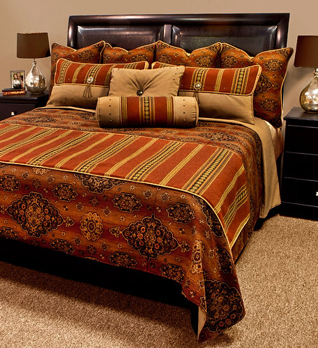 Kensington Rust Bed Set