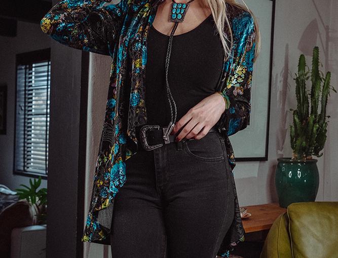Adison Jacket - Gypsy Turquoise