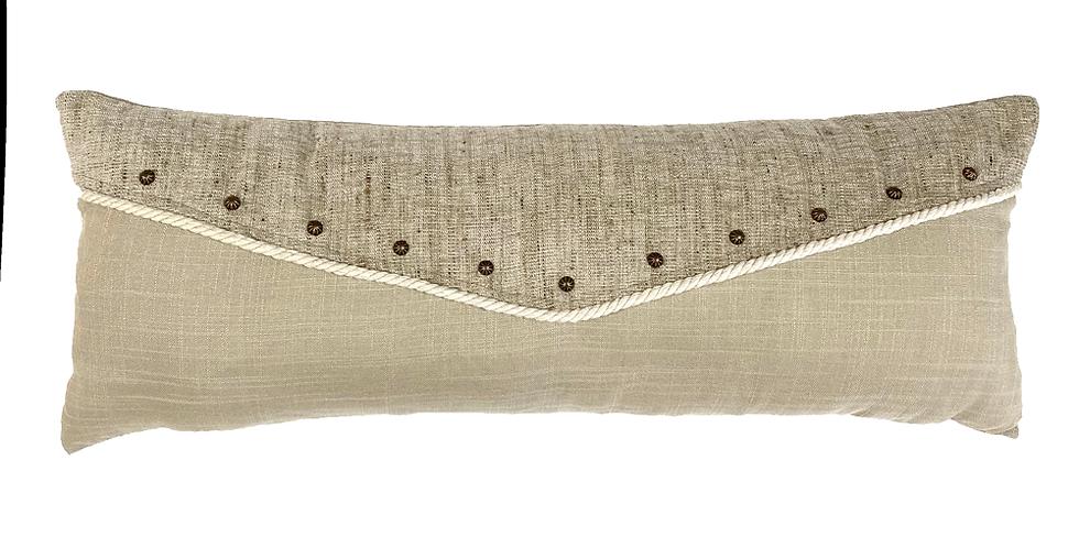Moonstone White Lumbar Pillow