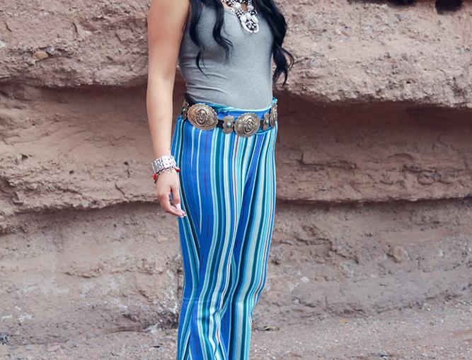 Nicole Pant - Blue Serape