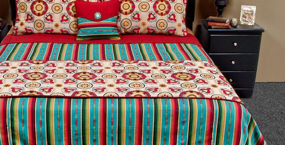 Laredo Turquoise Bed Set