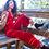 Thumbnail: Frida Jumpsuit - Lipstick Velvet