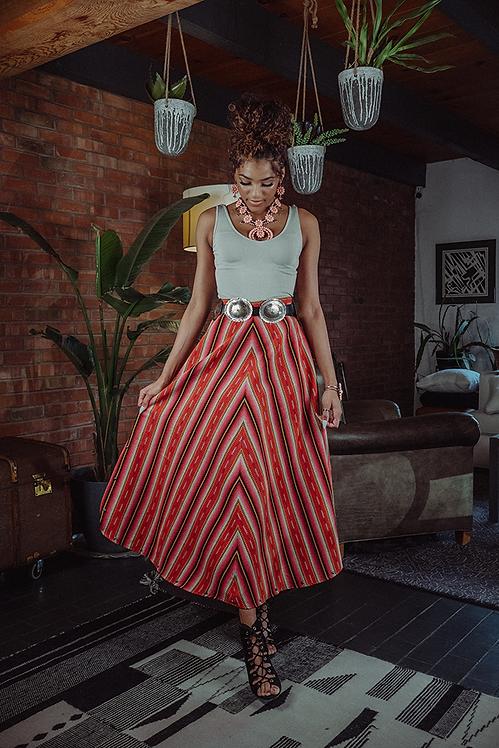 Chelsea Skirt - Manzano Stripe