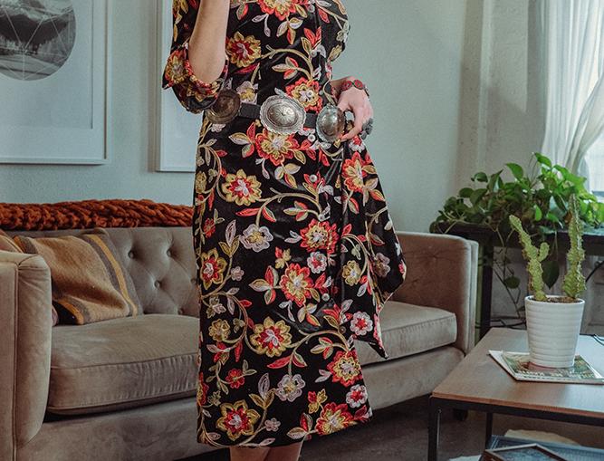 Audrey Dress - Flower Child Red