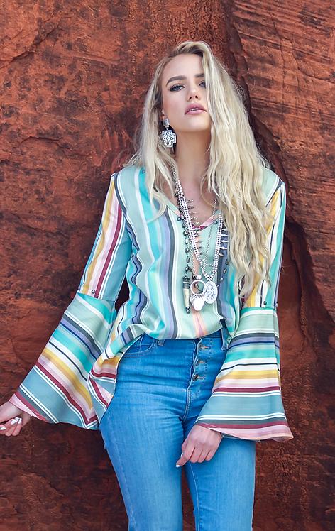 Lily Blouse- Playa Azul