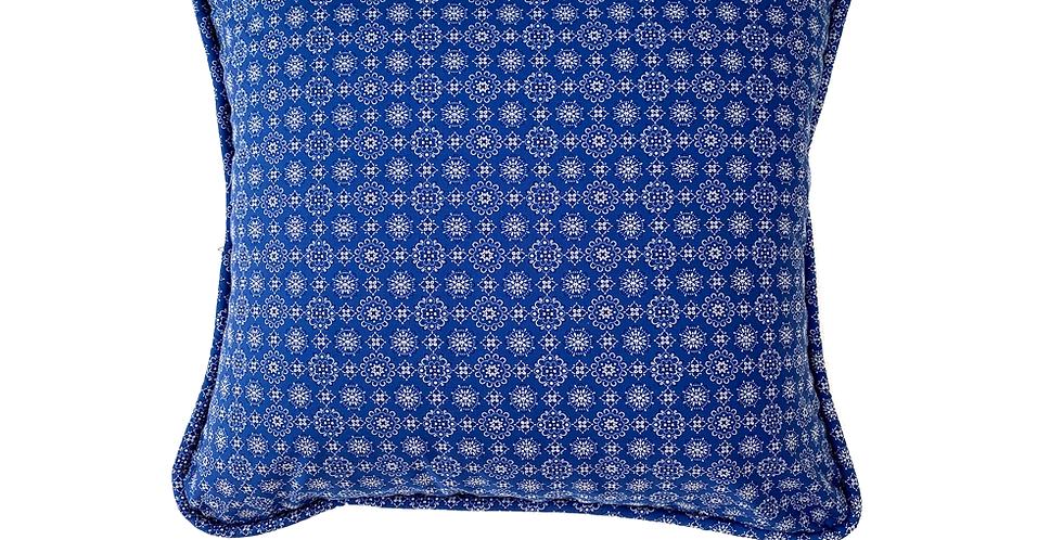 Bandana Blue Throw Pillow