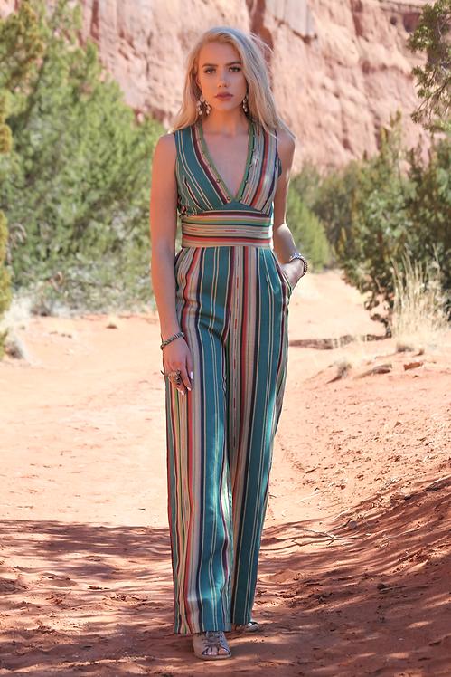 Frida Jumpsuit - Zuni Turquoise