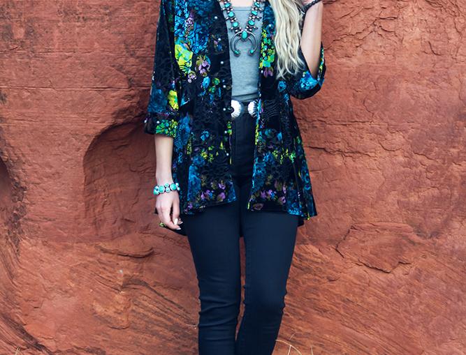 Jessica Jacket-Gypsy Turquoise