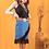 Thumbnail: Peyton Skirt - Blue Bandana