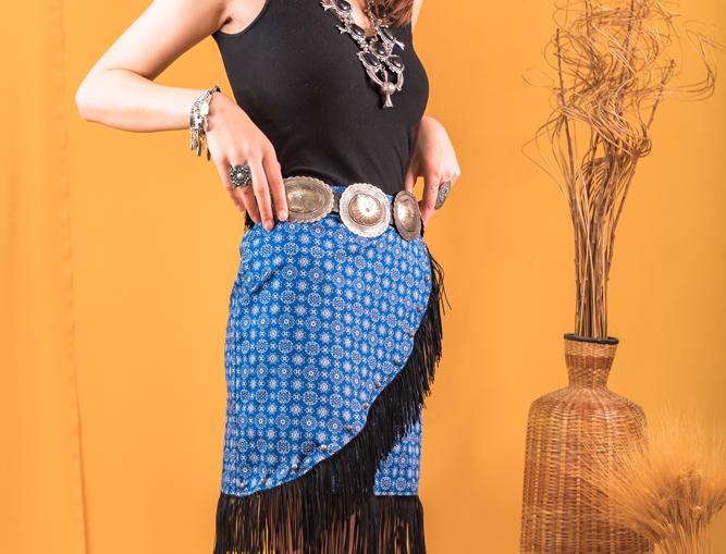 Peyton Skirt - Blue Bandana