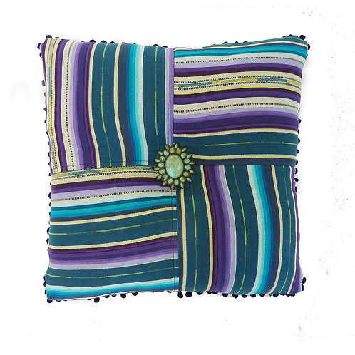 Plum Serape Throw Pillow