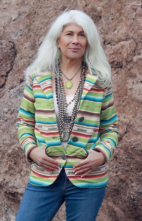 Sylvia Jacket - Lime Serape