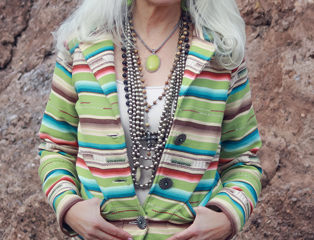 Sylvia Jacket - Lime Serape