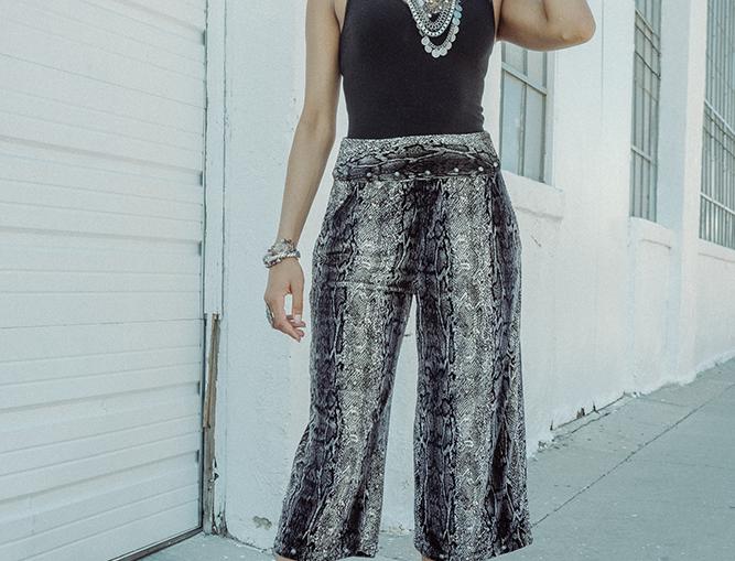 Hailey Pant - Anaconda Grey