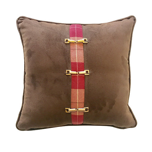 Field Hunter Leather Throw Pillow