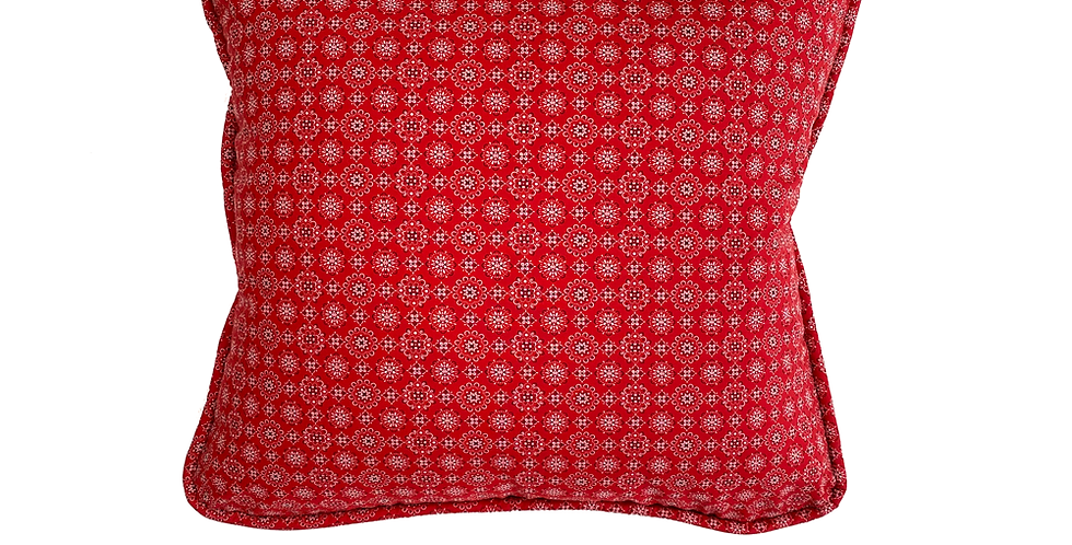 Bandana Red Throw Pillow