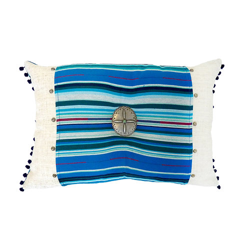 Blue Serape Accent Pillow