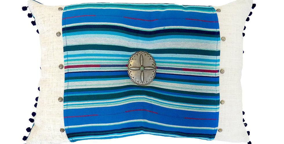 Blue Serape Accent Pillow