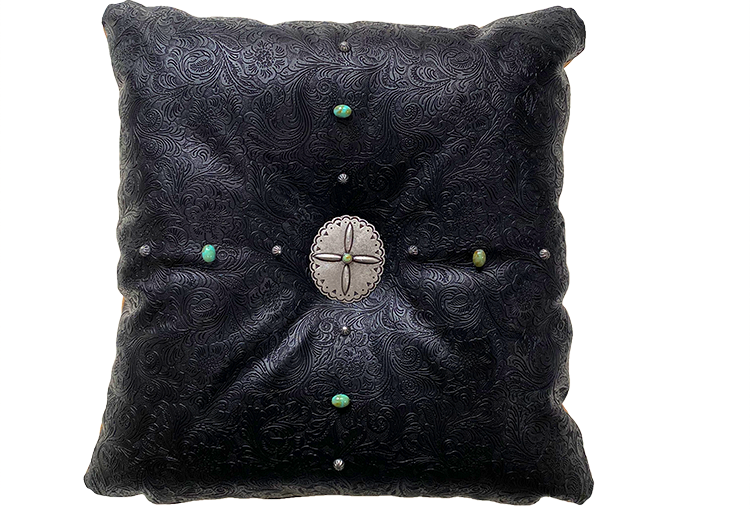 Saltillo Black Throw Pillow