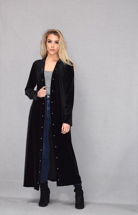 Ashley Duster - Midnight Black Velvet