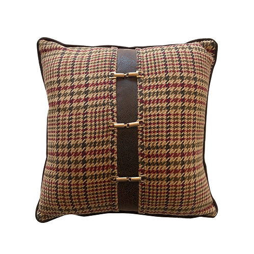 English Country Herringbone Throw Pillow