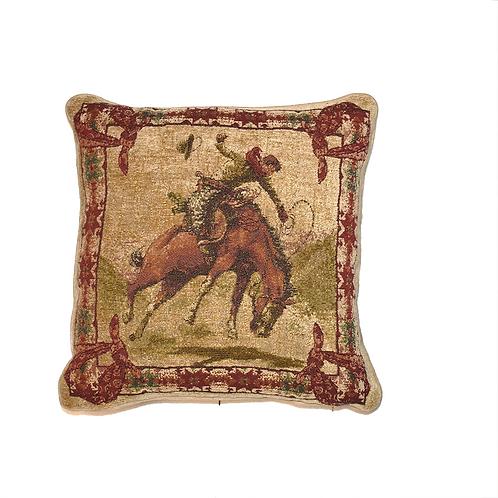 Chenille Cowboy Throw Pillow