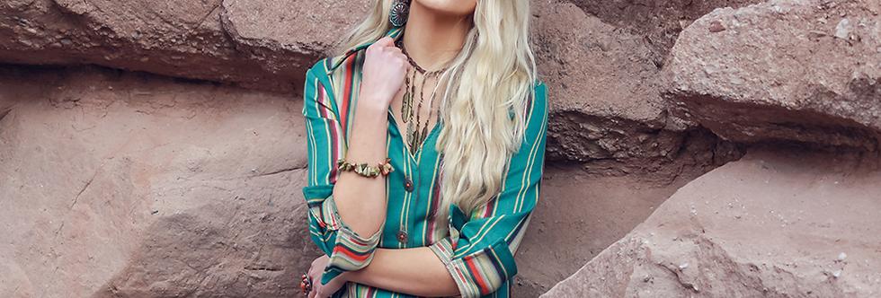 Rebecca Shirt- Zuni Turquoise