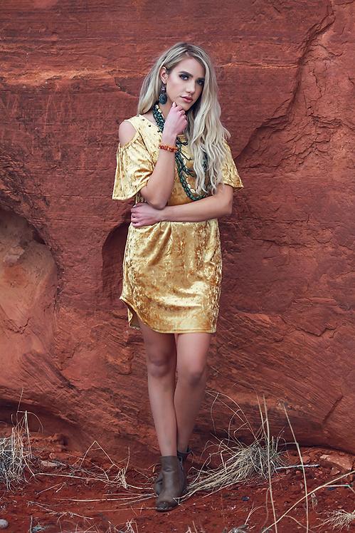 Natalie Dress- Dreamer Gold