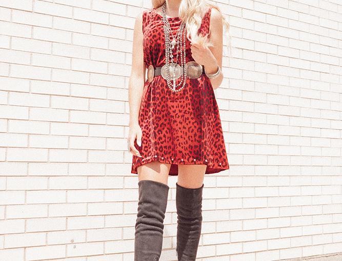 Chloe Dress - Red Lynx