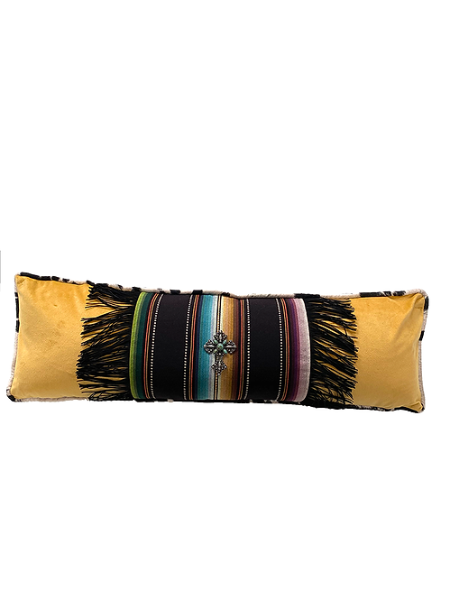 Saltillo Black Lumbar Pillow