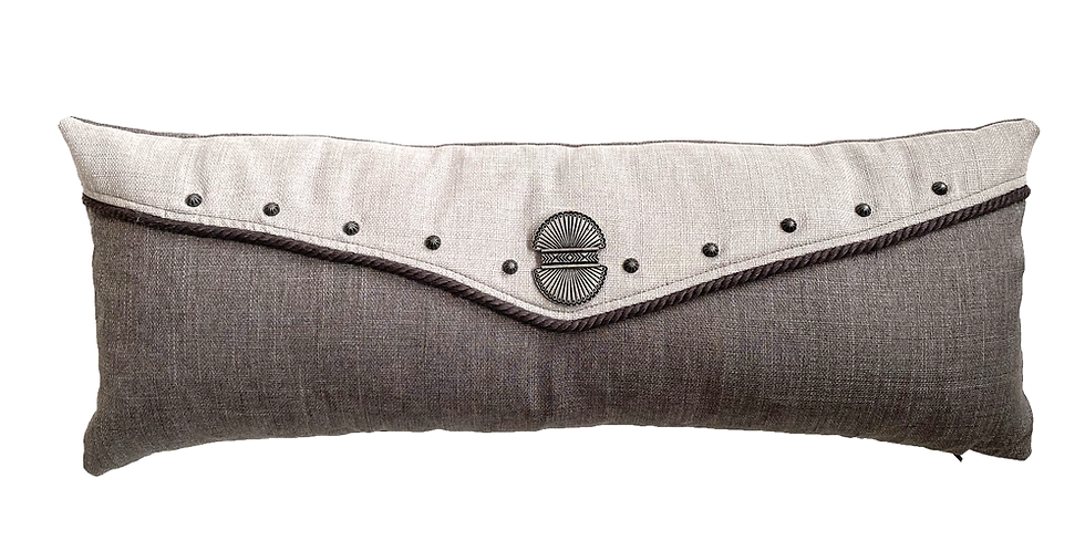 Moonstone Grey Lumbar Pillow