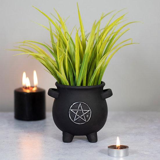 Pentagram Cauldron terracotta Plant Pot
